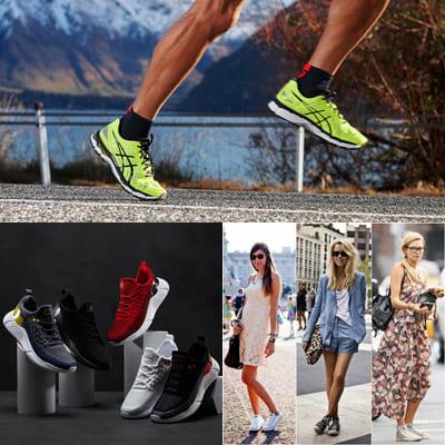 Советы по сочетанию спортивной обуви.